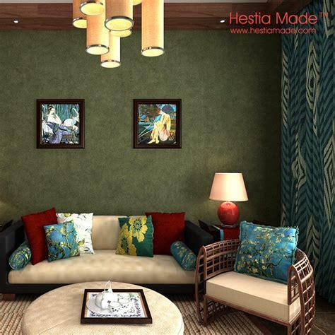 green living room wallpaper olive green wall