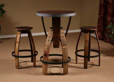 Stave Stool by Wine Barrel Stave Furniture Bar Height Table Stave Stool