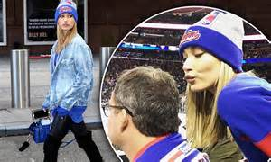 true colors tv show hailey baldwin shows true colors in ny rangers gear