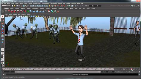 zombie network tutorial creating a zombie simulation using mel part 5 maya