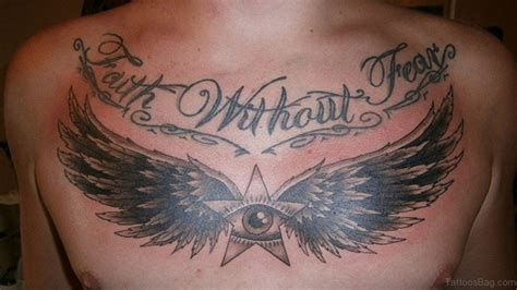 tattoo eye with wings 50 fantastic chest tattoos for men