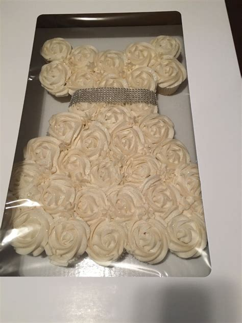 pull apart cupcake cake for bridal shower pull apart cupcake wedding dress cakecentral