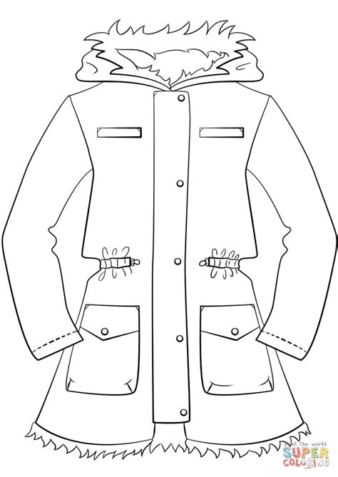 winter jacket coloring page free printable coloring pages