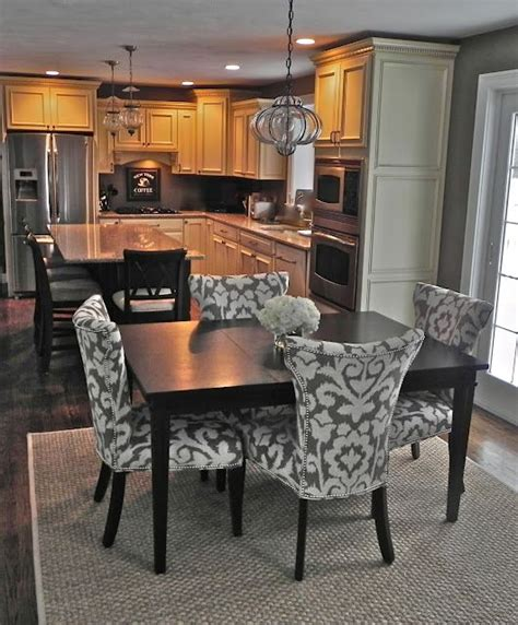 eat in kitchen furniture pretty dining chairs and square table pendant light is