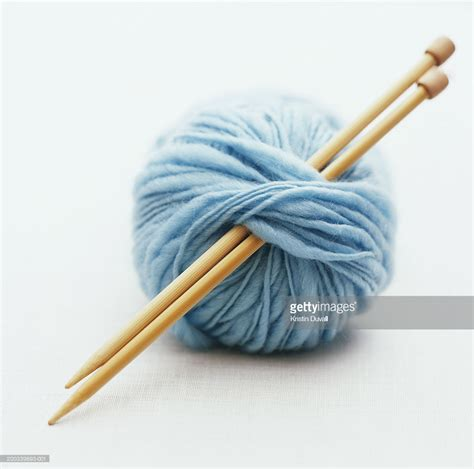 Knitting Needles In Of Yarn Stock Photo Getty Images