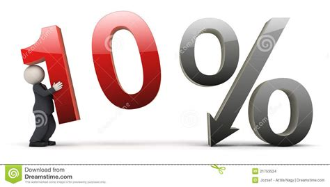 10 percent more free answrme 3d business with 10 percent sign stock images image
