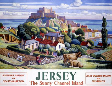 buying a house in jersey channel islands jersey the sunny channel island sr gwr poster 1947 by allinson at science and