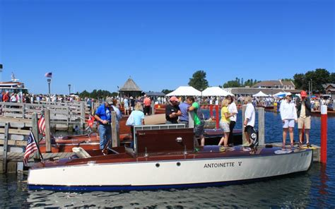hessel antique boat show 2017 the best of 40 years les cheneaux islands report acbs