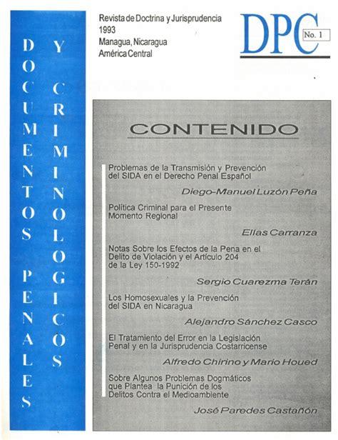 Dpc 0 Resumen documentos penales y criminol 243 gicos dpc n 176 1 inejinej