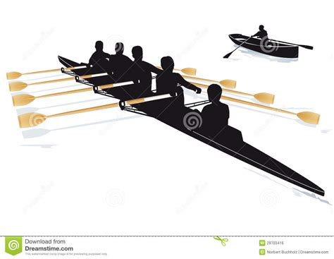 crew boat clipart rowing boats stock vector illustration of race outdoor
