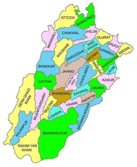 map of punjab map of punjab district lodhran
