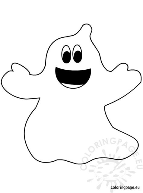 free coloring pages of ghost face template