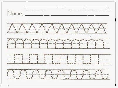 Paper With Preschoolers - preschool handwriting paper writing