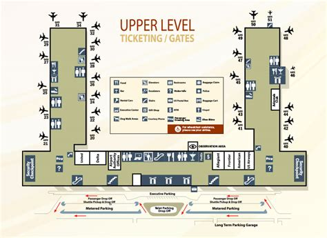 Airport Terminal Floor Plan by Terminal Maps Piedmont Triad International Airport