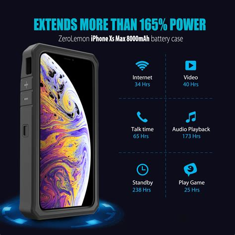 iphone xs max battery 8000mah zerolemon