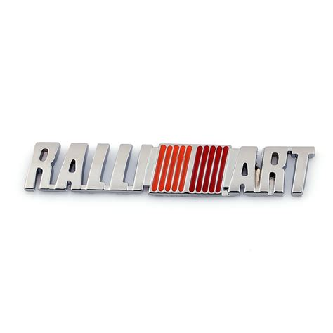 mitsubishi ralliart stickers 3d car auto emblem badge sticker decal metal ralliart for