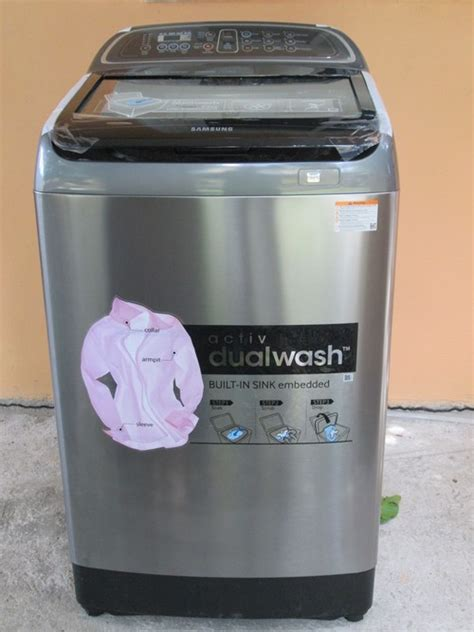samsung top load washer samsung 18kg activ dualwash top