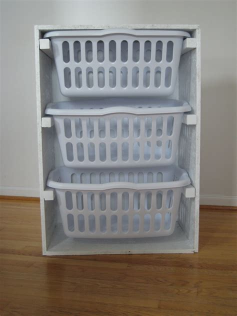 laundry organizer ana white laundry basket organizer diy projects