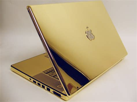 Laptop Apple Warna Gold technohost some luxurious gadgets made of gold diamonds
