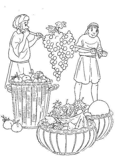 Coloring Page 12 Spies by 12 Spies On Bible Stories Bible Crafts And