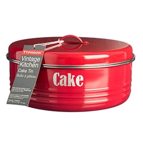 vintage storage tins kitchen typhoon vintage kitchen metal cake cupcake storage