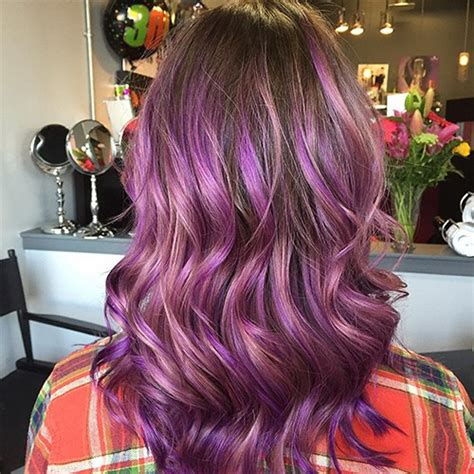 brunette hairstyles with purple highlights 4 most exciting shades of brown hair