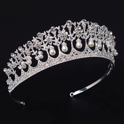 Vintage Wedding Hair Tiara by Vintage Wedding Bridal Pearl Crown Tiara Princess Headband