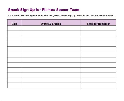 Sign Up Sheet Template Word by Doc 625693 40 Sign Up Sheet Sign In Sheet Templates Word