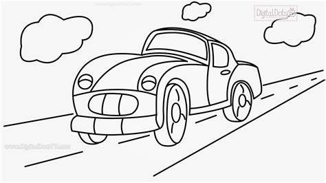 cartoon car drawing how to draw cartoon car step by step how to draw