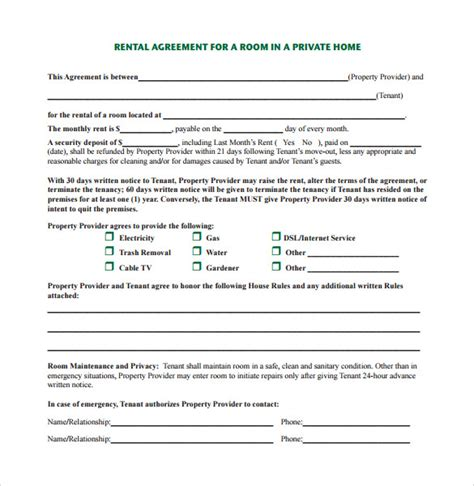 sle home rental agreement 6 documents in pdf