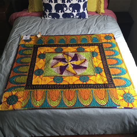 Handcrafted Quilt - handcrafted quilt 42 x 44 q161209
