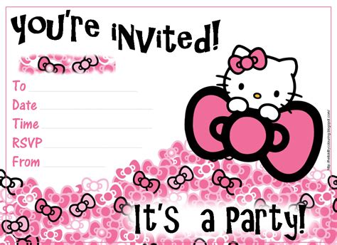printable birthday invitations hello kitty free hello kitty coloring pages