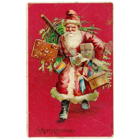 German Furniture by Late Victorian Christmas Santa Claus Father Christmas