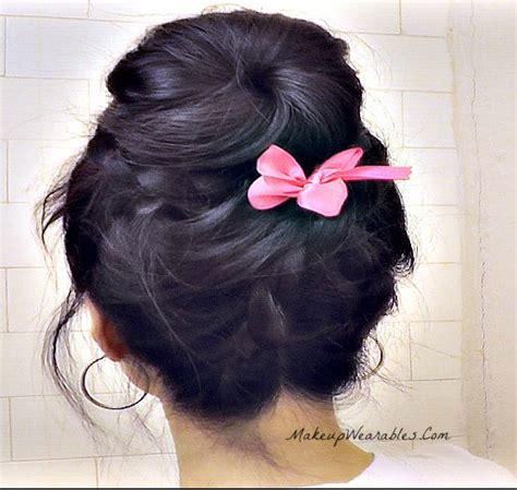 easy sock bun for medium hair 1000 images about korean hair styles on
