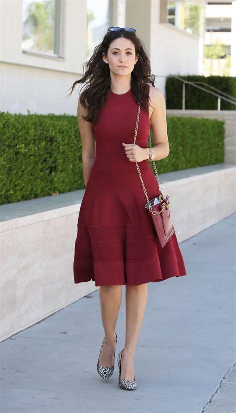 emmy rossum red dress emmy rossum in red dress 09 gotceleb