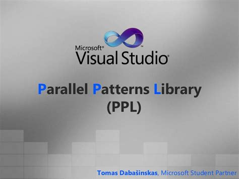 parallel patterns library gcc parallel patterns library ppl in visual c 2010