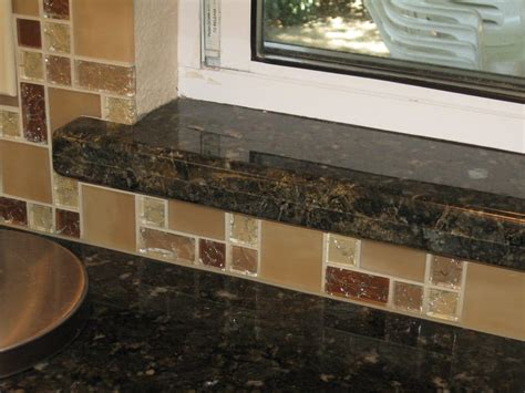 Kitchen Window Sill Ideas backsplash in galss window sill detail yelp