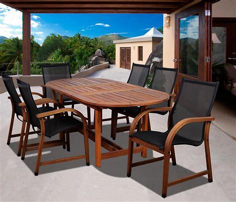 Kmart Patio Dining Sets Amazonia Syracuse 7 Eucalyptus Wood Patio Dining Set