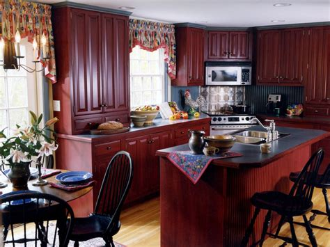 red country kitchen cabinets country kitchen islands pictures ideas tips from hgtv