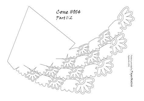 Cone 014 Papermatrix Flower Cone Template