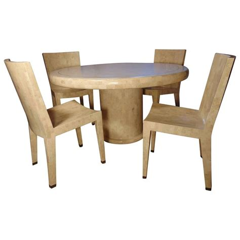 Marble Dining Table And Chairs Tessellated Marble Dining Table And Four Chairs By Maitland Smith Saturday Sale For Sale At 1stdibs