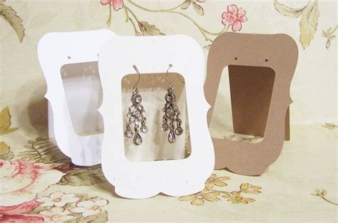how to make earring cards 20 lg zoe 2 5 x 3 5 inch tent cards earring cards