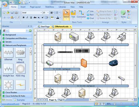 membuat flowchart dengan edraw software aplikasi menggambar topologi computer and