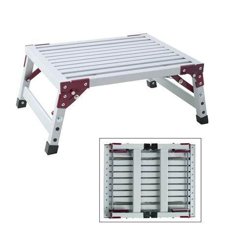 Shop Step Stool shop gpl 1 step aluminum step stool at lowes