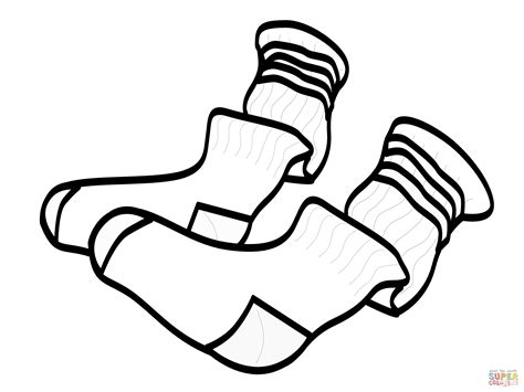 socks coloring page free printable coloring pages