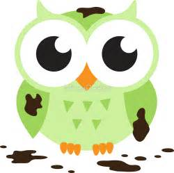 Owl Stickers For Wall quot cute green cartoon owl covered in mud quot stickers by