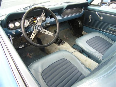 Mustang 66 Interior by Aftermarket Guages In The Factory Dash Vintage Mustang