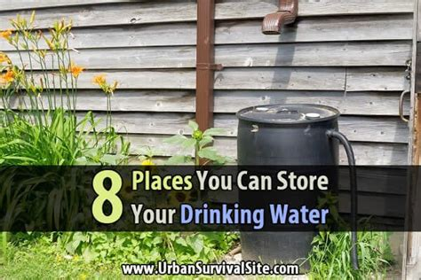 8 places you can store your water