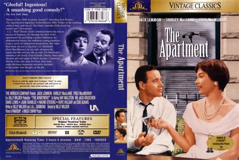 the apartment the apartment dvd scanned covers 219apartment