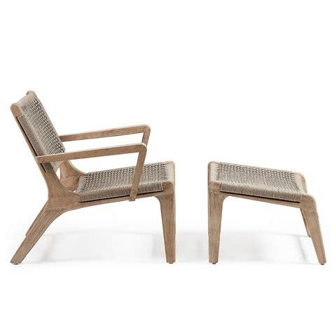 fauteuil repose pieds fauteuil de jardin avec repose pied en bois basneti by drawer